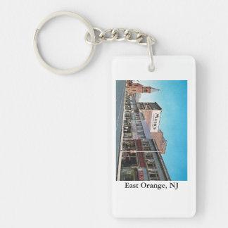Main St, East Orange NJ Vintage Single-Sided Rectangular Acrylic Keychain