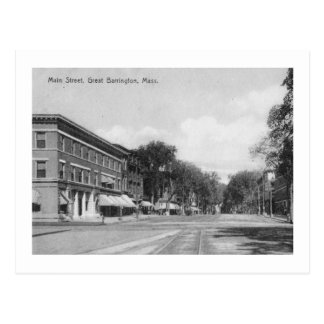 Main St., Great Barrington, Massachusetts Vintage Postcard