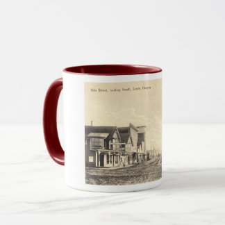 Main St., Lents, Oregon 1910, Vintage Mug