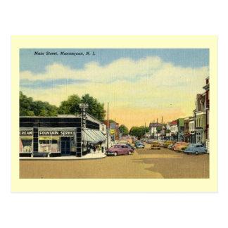 Main St., Manasquan, New Jersey Vintage Postcard