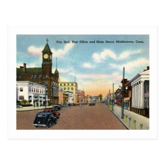 Main St., Middletown, Connecticut Vintage Postcard