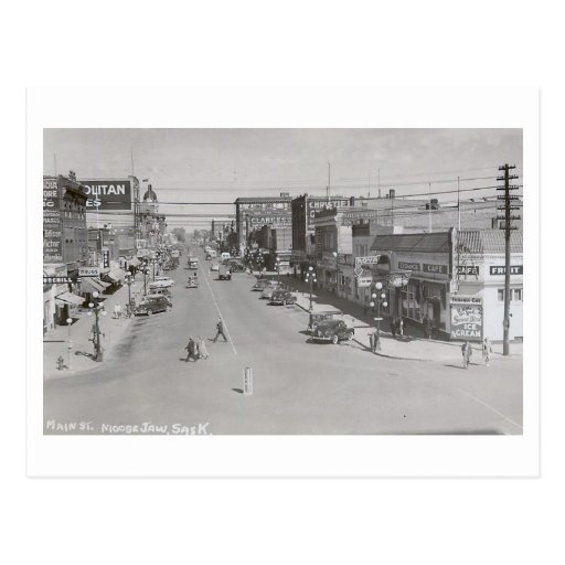Main St., Moose Jaw, Saskatchewan Vintage Post Card