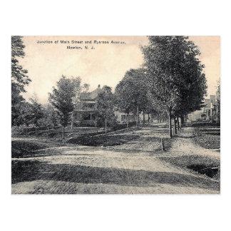Main St, Newton, New Jersey, Vintage Postcard