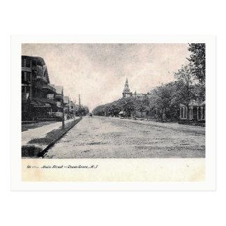 Main St, Ocean Grove, NJ Vintage Postcard