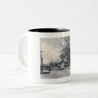 Main St., Pt. Jefferson, New York Vintage Two-Tone Coffee Mug