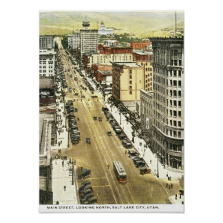 Main St., Salt Lake City Vintage Poster