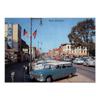 Main St., Somerville, New Jersey Vintage Poster