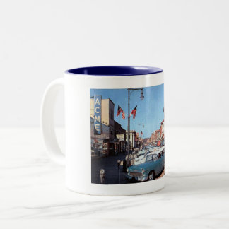 Main St., Somerville, New Jersey Vintage Two-Tone Coffee Mug