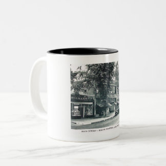Main St., Southampton, Long Island NY Vintage Two-Tone Coffee Mug