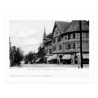 Main St., Tarrytown, New York Vintage Postcard