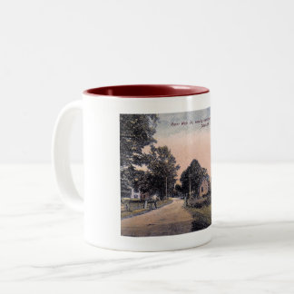 Main St., Woodstock, New York Vintage Two-Tone Coffee Mug