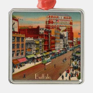 Main Street - Buffalo, NY Vintage Metal Ornament