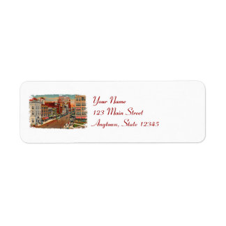 Main Street Buffalo Return Address Labels