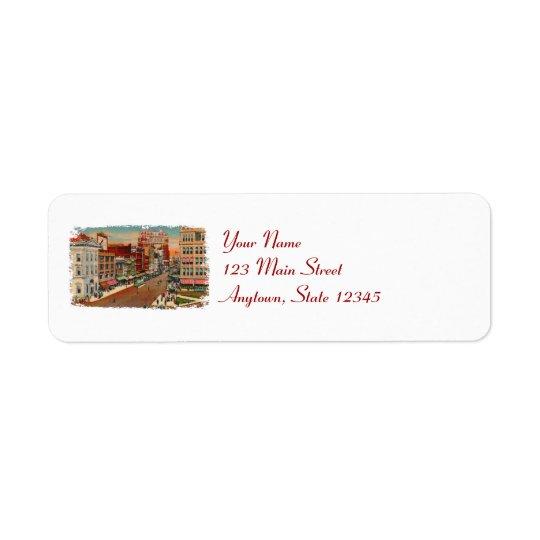 Main Street Buffalo Return Address Labels