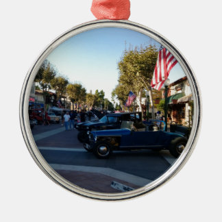 Main Street Classic Car Show in Garden Grove Silver-Colored Round Ornament