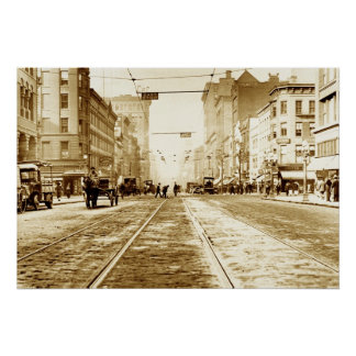 Main Street from Clinton Ave Poster
