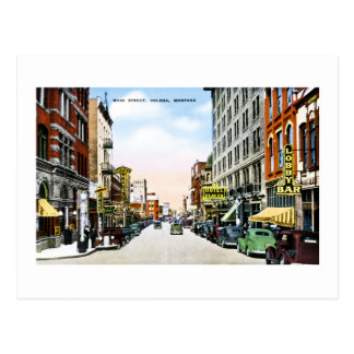 Main Street, Helena, Montana Vintage Greetings Postcard