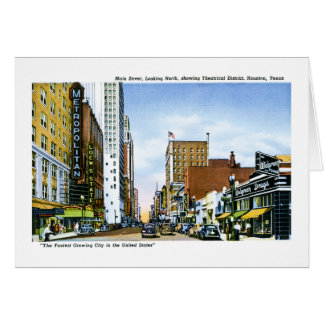 Main Street, Houston, Texas Card