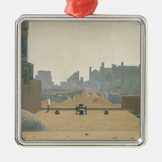 Main Street in Samarkand, Early Morning, 1869-70 Silver-Colored Square Ornament