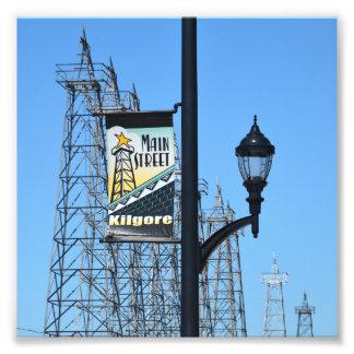 Main Street, Kilgore, Texas, Oil Derricks Photo Print