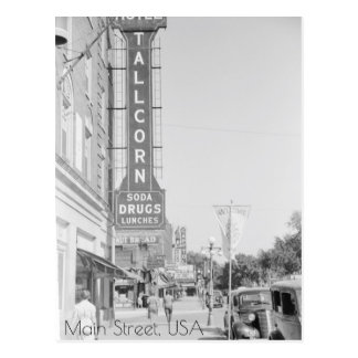 Main Street, Marshalltown, Iowa Postcard