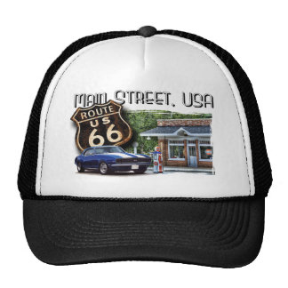 Main Street USA with Muscle car Trucker Hat
