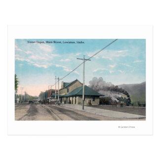 Main Street View of Union DepotLewiston, ID Postcard