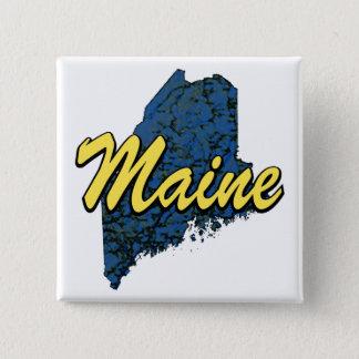 Maine 2 Inch Square Button