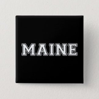 Maine 2 Inch Square Button