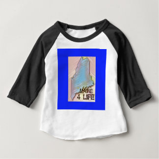 """Maine 4 Life"" State Map Pride Design Baby T-Shirt"