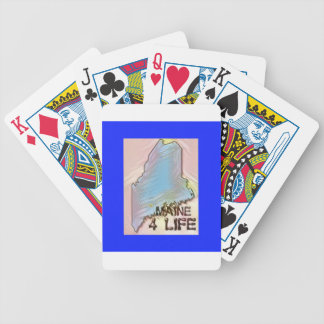 """""""Maine 4 Life"""" State Map Pride Design Bicycle Playing Cards"""