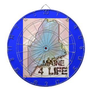 """Maine 4 Life"" State Map Pride Design Dartboard"
