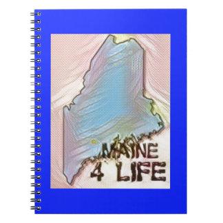 """Maine 4 Life"" State Map Pride Design Notebooks"