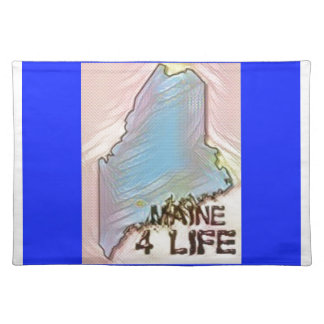 """Maine 4 Life"" State Map Pride Design Placemat"