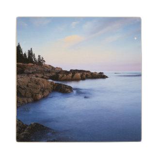 Maine, Acadia National Park, Moonset Wood Coaster