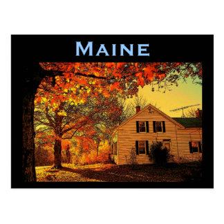 Maine Autumn Postcard