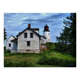 Maine Burnt Island Lighthouse Poster