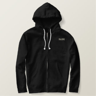 Maine Classic Sherpa-lined Zip Hoodie Black 2