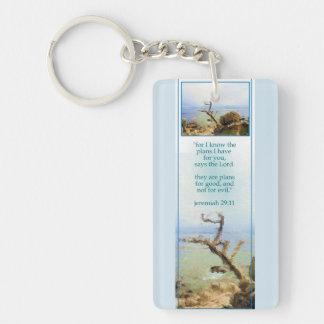 Maine Coast Scripture Promise Keychain