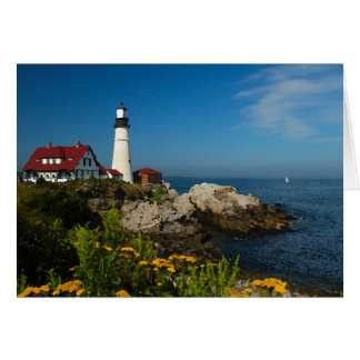 Maine Coast Seascape - Portland Head Lighthouse Card