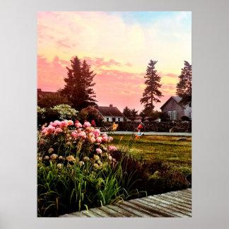 Maine Coastal Sunset Poster