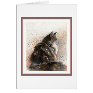 Maine Coon Cat Blank Greeting Card