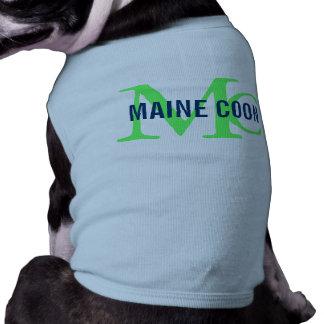 Maine Coon Cat Breed Monogram Doggie Tee