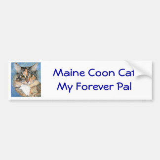 Maine Coon Cat Bumper Sticker