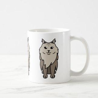 Maine Coon Cat Cartoon Coffee Mug