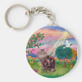 Maine Coon Cat  - Cloud Angel Keychain
