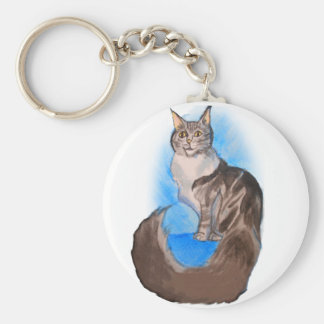 MAINE Coon Cat Keychain