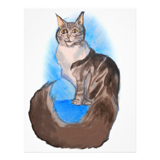 MAINE Coon Cat Letterhead Template