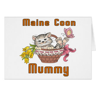 Maine Coon Cat Mom Card