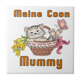 Maine Coon Cat Mom Ceramic Tiles